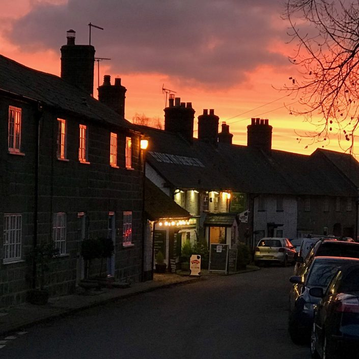 Sunset over Ye Olde Two Brewers 17/11/17