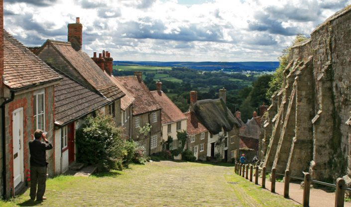 Gold Hill, Shaftesbury a few yards from Ye Olde Two Brewers