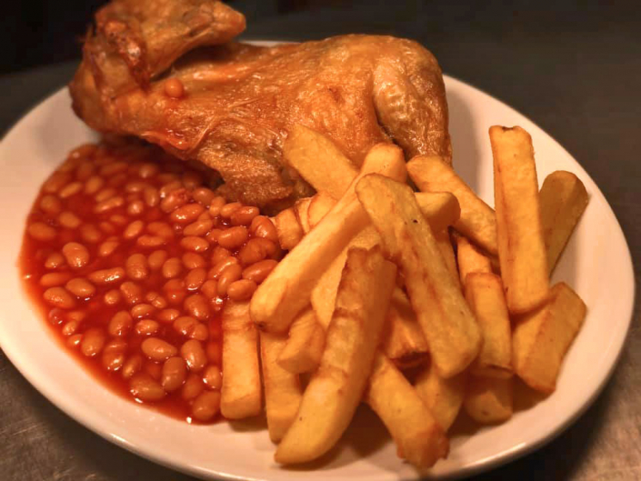 Half Chicken & Chips - Ye Olde Two Brewers